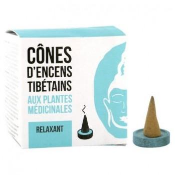 Cônes d'encens tibétains Relaxant, aux plantes médicinales