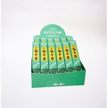 Morning star - Cèdre, boîte de 12, pour la méditation, les dojos, les temples, la maison