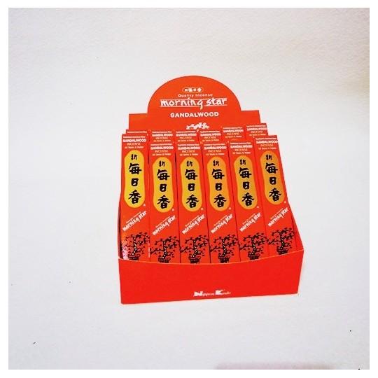 Morning star - Santal, boîte de 12, pour la méditation, les dojos, les temples, la maison