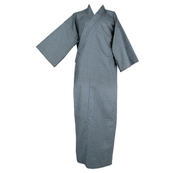 """Kimono """"étoiles""""vert eau, élégant et sobre"""