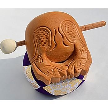 Mokugyo tambour 18 cm, pour rythmer le chant des sutras