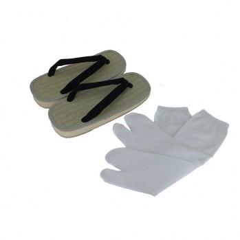 chaussettes-doigt blanches pour sandales-zoris