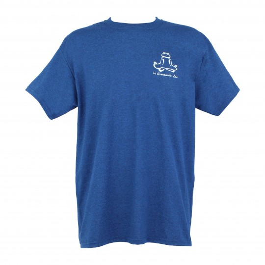 "T-shirt ""grenouille zen"" bleu lavande"