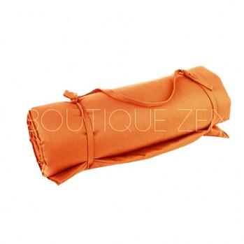 Tapis de détente orange, pour le yoga, la méditation, la relaxation, création atelier zen