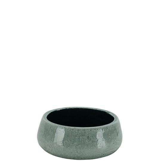 Vase vert-gris craquelé pour ikebana et art floral