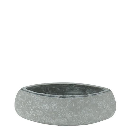 Vase rustique gris pierre pour l'ikebana et l'art floral, forme feuille