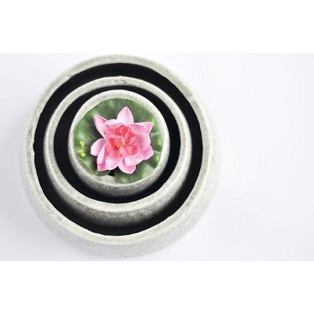 Set de 3 vases vert-gris craquelé pour ikebana et art floral