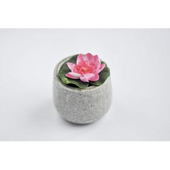 Vase vert-gris craquelé pour ikebana et art floral, petit modèle