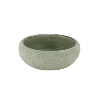 Vase rustique gris pierre pour l'ikebana et l'art floral, modèle rond
