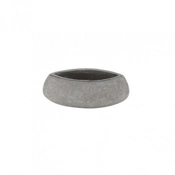 Vase rustique gris pierre pour l'ikebana et l'art floral, modèle moyen