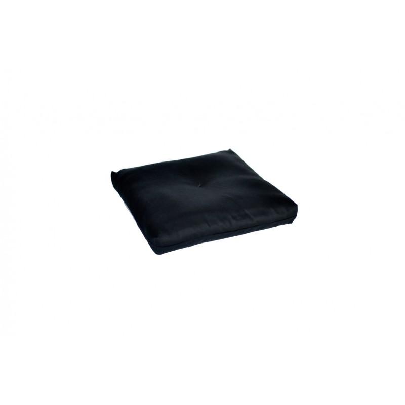 coussin noir pour réhausser le zafu