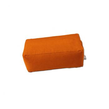 Zafu rectangulaire (épeautre) orange pour la méditation