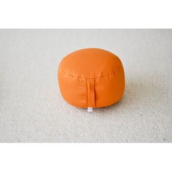 zafu de voyage orange en épeautre