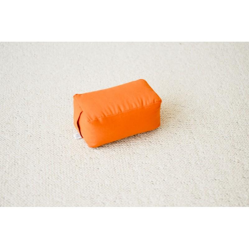 Mini-zafu rectangle orange (épeautre)
