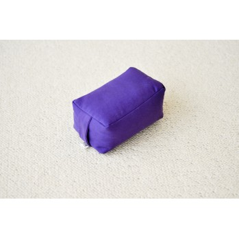Mini-zafu rectangle violet (épeautre)
