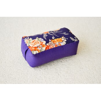 Zafu rectangle violet - tissu japonais