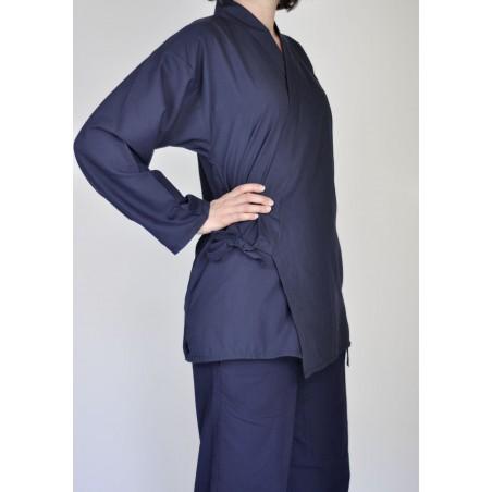 samue tissu léger bleu nuit veste et pantalon