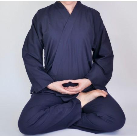 samue bleu vêtement méditation