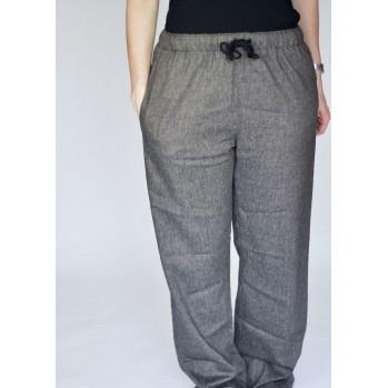 Pantalon gris-chiné, confortable et élégant