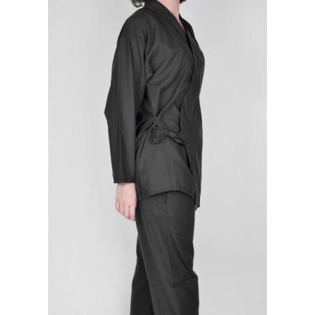 Ensemble Samu-e tissu léger, noir, veste et pantalon