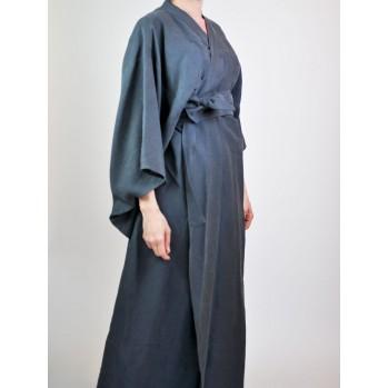 """Kimono """"fôret de sapins"""" en lin et """"tencel"""", sobre et élégant"""
