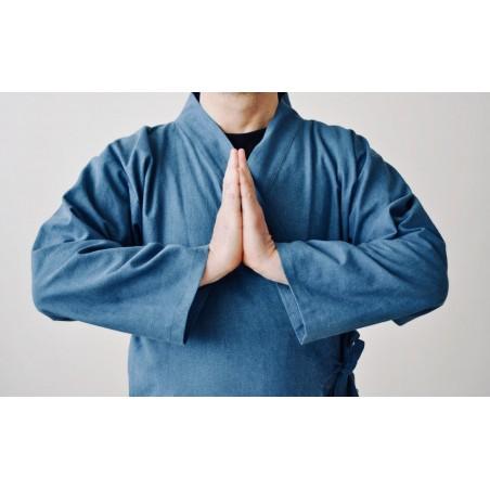veste samue bleu jean décontractée
