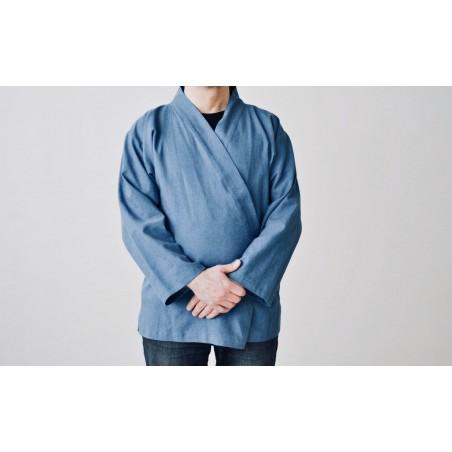 veste samue bleu jean