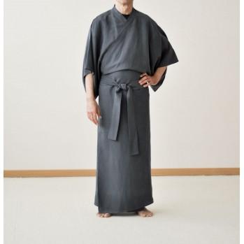 kimono anthracite léger