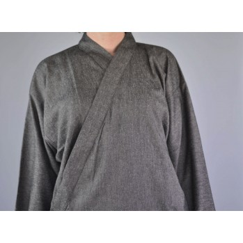 samue tissu léger gris-chiné