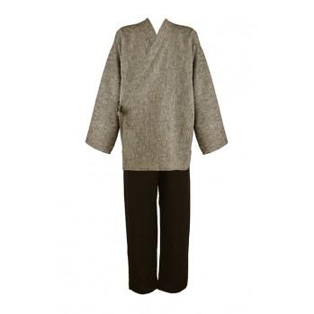 ensemble veste et pantalon samue noir et taupe