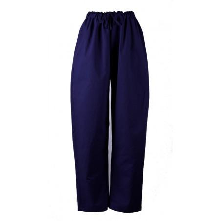 pantalon shiatsu bleu coton
