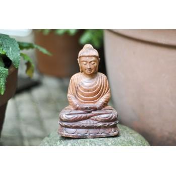Bouddha en méditation, bois de paulwonia