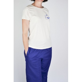 pantalon d'été bleu coton