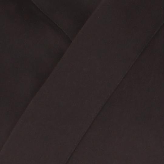 Veste samue classique marron nuit, coton solide