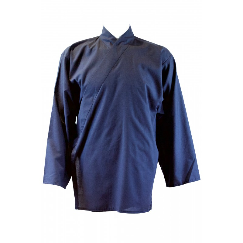 veste tissu léger bleu océan
