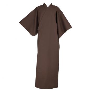 Kimono long brun terre