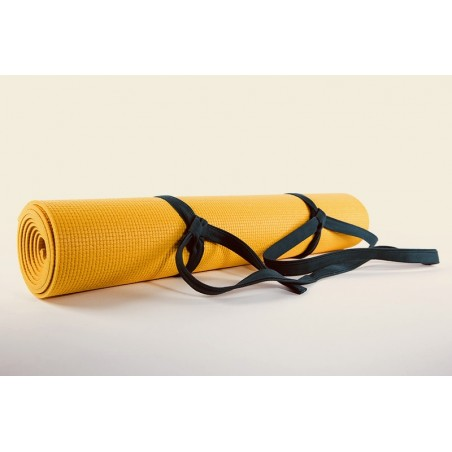tapis de yoga safran antidérapant