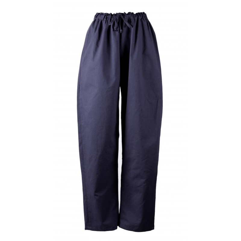 Pantalon bleu nuit  en coton