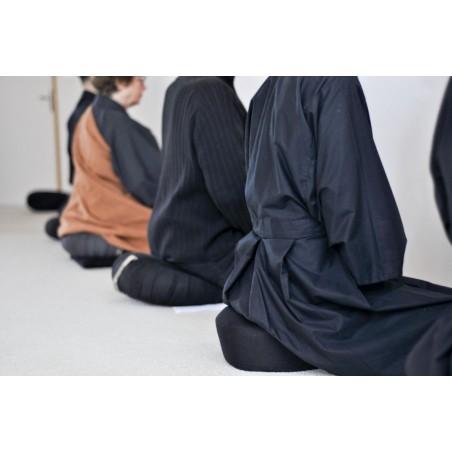 "Kimono noir long ""zazen"""