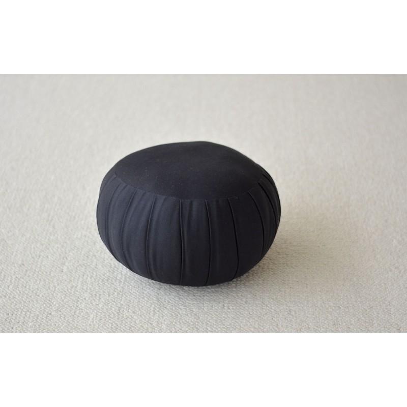 Zafu standard noir (kapok), coussin de méditation pour zazen