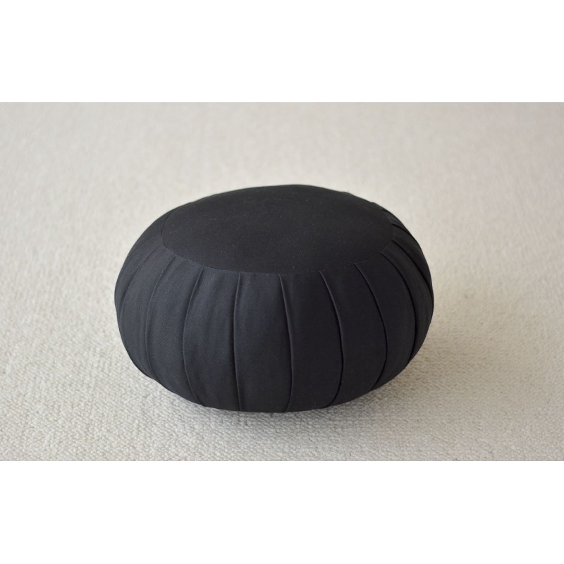 Zafu haut 22 cm, noir coussin de méditation