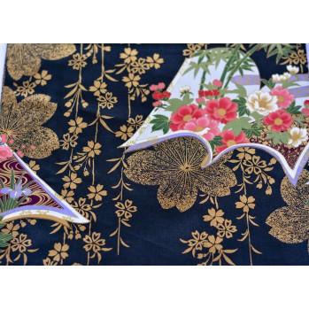 Yukata Daimonji, noir rouge et or