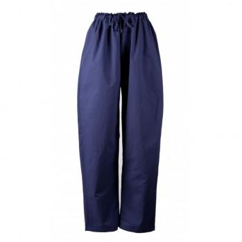 Pantalon bleu marine, coton solide, shiatsu, détente