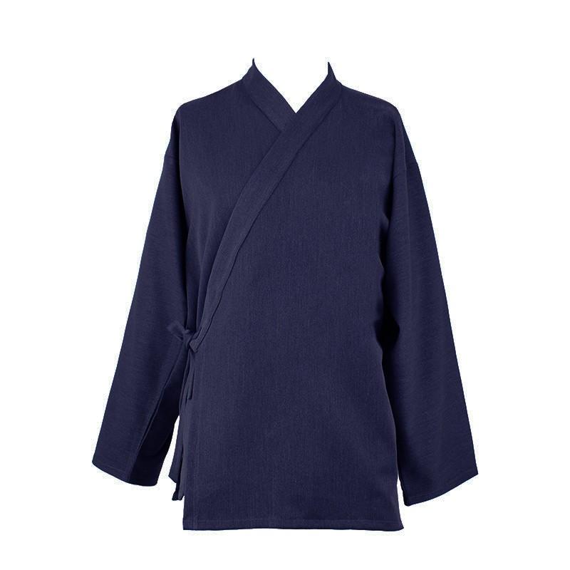 Veste samue coton 100% bleu nuit, modèle automne-hiver