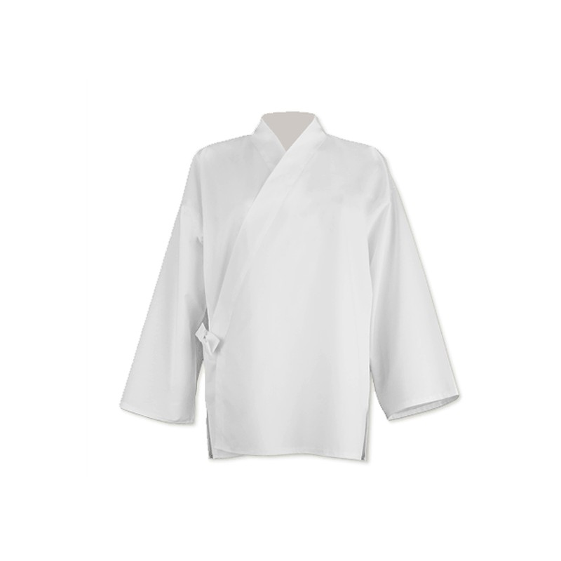 Veste samue en coton, blanc