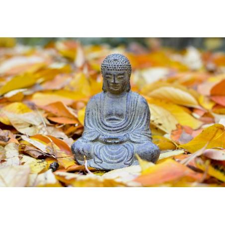 Bouddha en pierre avec encensoir
