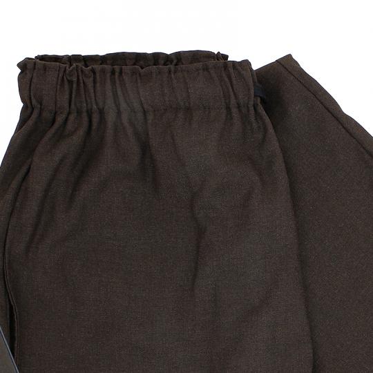 Ensemble Samue coton marron nuit, veste et pantalon