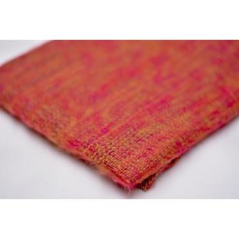 Châle de méditation / Plaid de relaxation - rouge safran