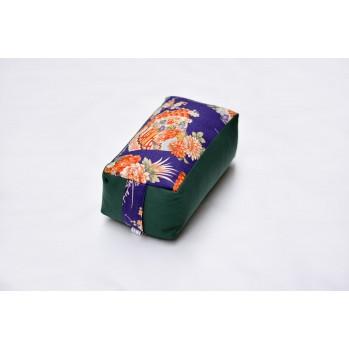 Zafu rectangle vert - tissu japonais