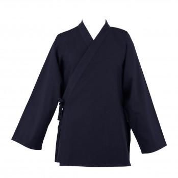 veste bleu nuit laine fluide